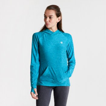 Women's Sprint City Lightweight Hoodie Fresh Water Blue