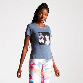 Women's Emote Graphic Print T-Shirt Meteor Grey