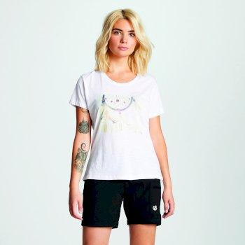 Women's Emote Graphic Print T-Shirt White