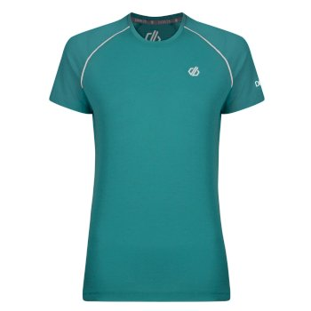 Women's Instate Wool T-Shirt Caribbean Green