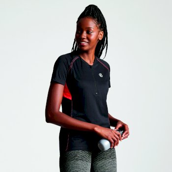 Women's Tribe Half Zip Cycle Jersey Black