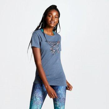 69866c9fc Women's Aim Higher Cutout Back T-Shirt Meteor Grey