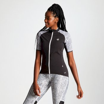 Women's Expound Full Zip Cycle Jersey Black White