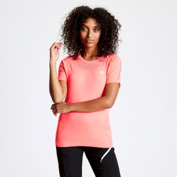 Women's Seamless T-Shirt Fiery Coral