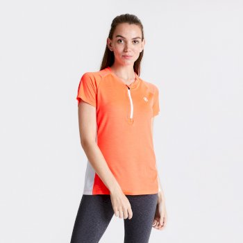 Maillot cycle Femme avec 1/2 zip OUTDARE Orange