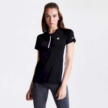 Women's Outdare Half Zip Cycling Jersey Black