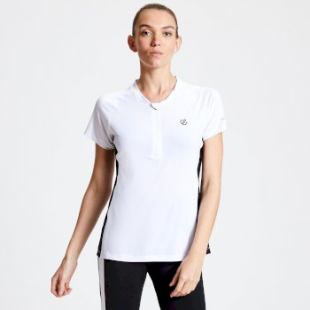 Women's Outdare Half Zip Cycling Jersey White