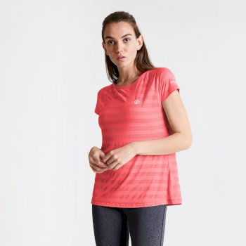 Women's Defy Quick Drying T-Shirt Fiery Coral
