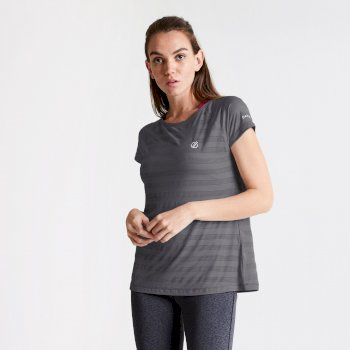 Women's Defy Quick Drying T-Shirt Ebony Grey