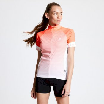 Women's AEP Elaborate Full Zip Cycling Jersey Fiery Coral