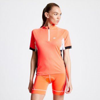 Maillot cycle Femme avec 1/2 zip EXPOUND II  Orange