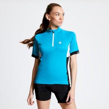 Maillot cycle Femme avec 1/2 zip EXPOUND II  Bleu