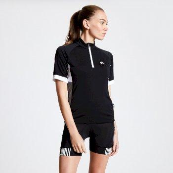Maillot cycle Femme avec 1/2 zip EXPOUND II  Noir