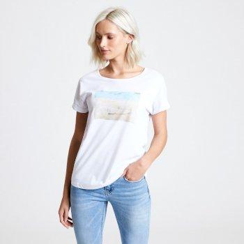 T-shirt Femme avec imprimé IMPROVE Blanc
