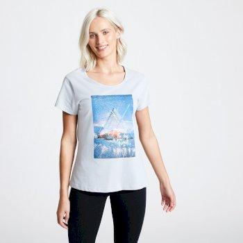 T-shirt Femme avec imprimé SUMMER NIGHTS Gris