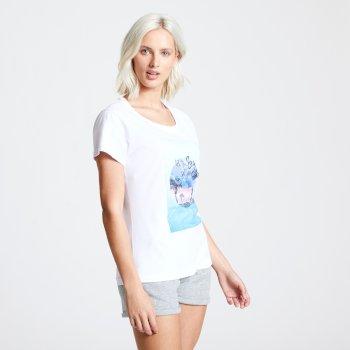 T-shirt Femme avec imprimé SUMMER NIGHTS Blanc