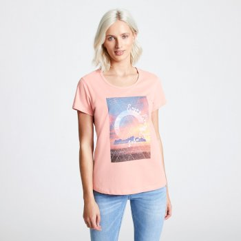 T-shirt Femme avec imprimé SUMMER NIGHTS Rose