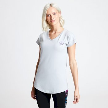 T-shirt Femme avec logo DARE2B PASTIME Gris