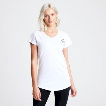 T-shirt Femme avec logo DARE2B PASTIME Blanc