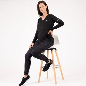 The Kate Ferdinand Edit - Maternity Discern Long Sleeve T-Shirt Black