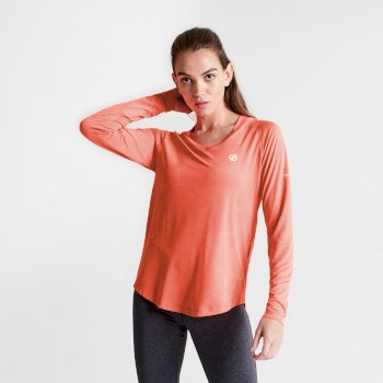 Women's Discern Long Sleeve T-Shirt Fiery Coral