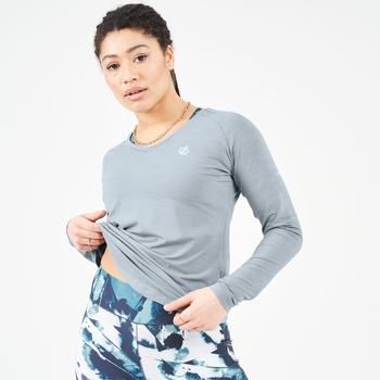 Women's Discern Lightweight Long Sleeve T-Shirt Ash Grey Marl