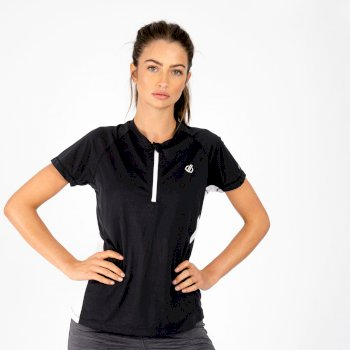 Women's Outdare II Half Zip Lightweight Jersey  Black White