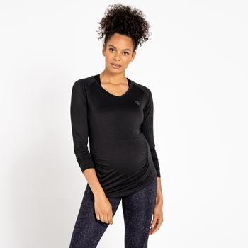 Women's Maternity Discern Long Sleeve T-Shirt Black