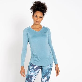Women's Maternity Discern Long Sleeve T-Shirt Cameo Green