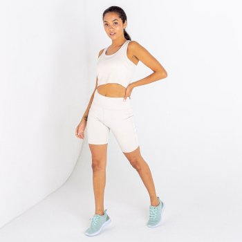Women's Lounge About Crop Top Barley White