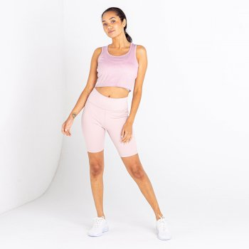 Women's Lounge About Crop Top Violet Ice