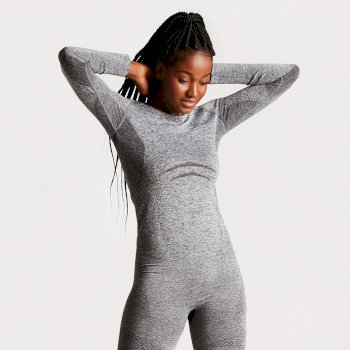 Women's Zonal III Long Sleeve Base Layer Top Charcoal Grey