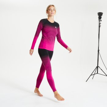 Women's In The Zone Performance Base Layer Set Active Pink Black