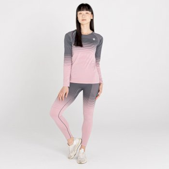 Women's In The Zone Performance Base Layer Set Powder Pink Grey