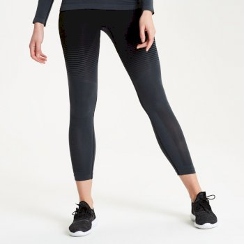 Women's In The Zone Performance Base Layer Leggings Black Gradient