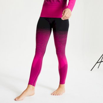 Women's In The Zone Performance Base Layer Leggings Active Pink Black