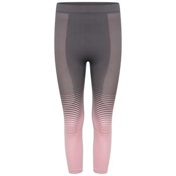 Women's In The Zone Performance Base Layer 3/4 Leggings Powder Pink Grey
