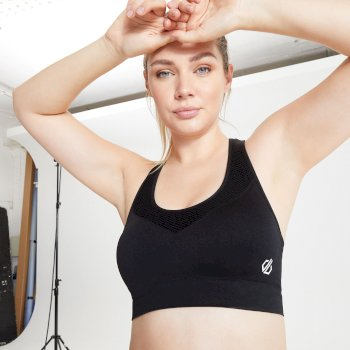 The Kate Ferdinand Edit - Don't Sweat It Medium Impact Sports Bra Black