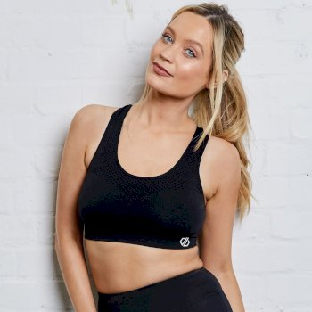 The Laura Whitmore Edit - Don't Sweat It II Medium Impact Sports Bra Black