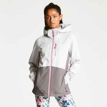 Women's Verate Waterproof Jacket Cyberspace Smokey Grey