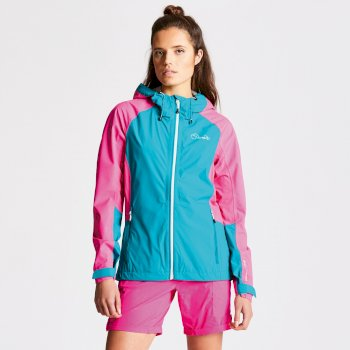 Women's Recourse II Lightweight Jacket Shoreline Blue Cyber Pink