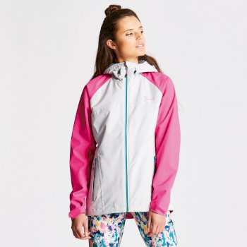 Women's Repute II Waterproof Jacket Cyberspace Grey Cyber Pink