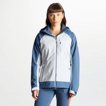 Veste technique imperméable pour montagne et outdoor Femme VERITAS avec capuche détachable Argent Meteor Grey