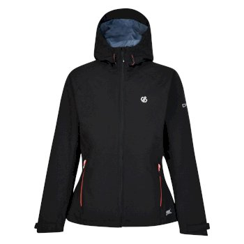 Women's Compete Lightweight Hooded Waterproof Jacket Black