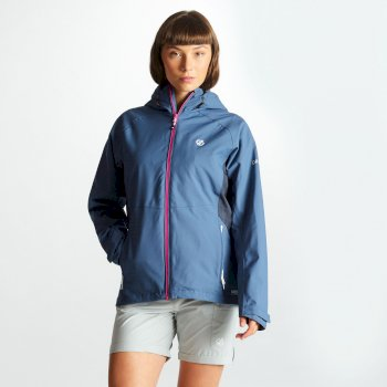Women's Compete Lightweight Hooded Waterproof Jacket Meteor Quarry Grey