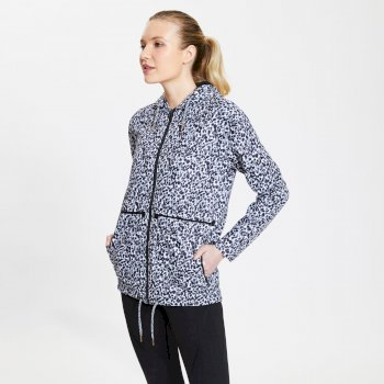 Women's Deviation Waterproof Jacket White Zoological Print