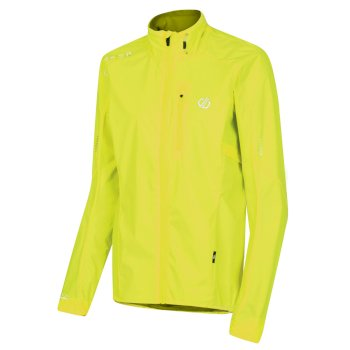 Women's Mediant Lightweight Reflective Waterproof Shell Jacket Fluro Yellow