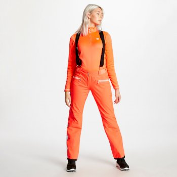 Salopette de ski technique Femme ANTEDATE Orange