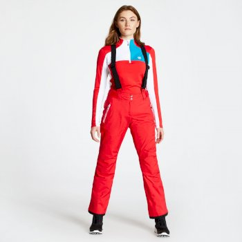 Pantalon de ski technique Femme EFFUSED Rouge