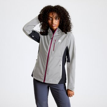 Women's Veritas II Waterproof Hooded Jacket Argent Ebony Grey